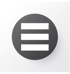 list icon symbol premium quality isolated vector image