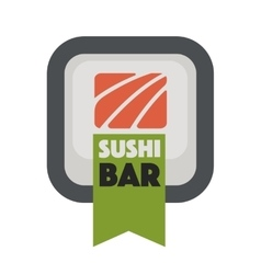 Logo design for restaurants of Japanese food vector image