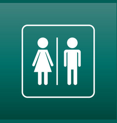 man and woman icon on green background modern vector image