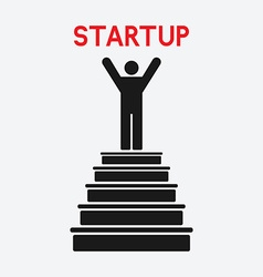 man on top startup concept vector image