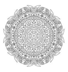 Mandala doodle drawing round coloring vector