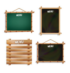 Menu boards set isolated on white background vector
