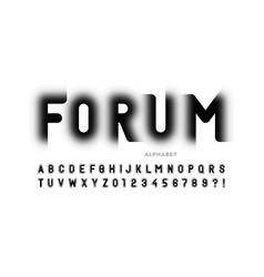 modern trendy style font design vector image