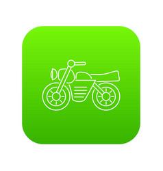 Motorcycle icon green vector