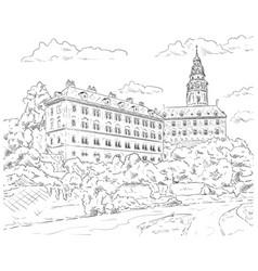 Palace cesky krumlov vector