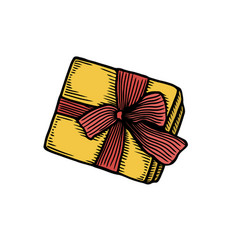 retro gift box vector image