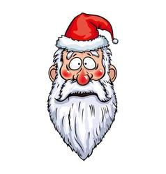Santa Claus Surprised Head vector image