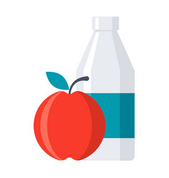 school lunch icon vector image