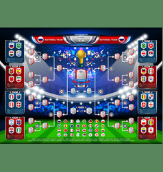 Scoreboard world soccer 2018 in russia vector