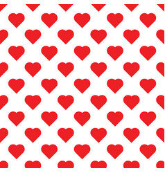 seamless pattern with hearts big red hearts on vector image