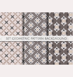 set geometric pattern on colour background vector image