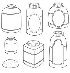 Set of body powder vector