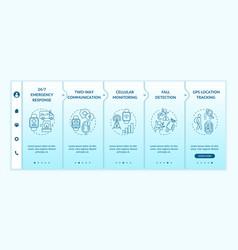 smartwatch healthcare features onboarding template vector image