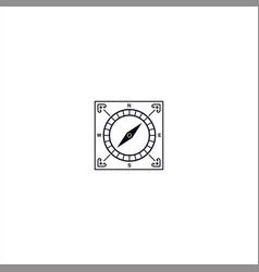 Square compass logo design template vector