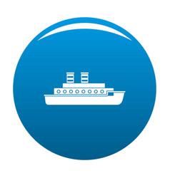 Steamship icon blue vector