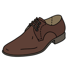 The brown leather mens shoe vector