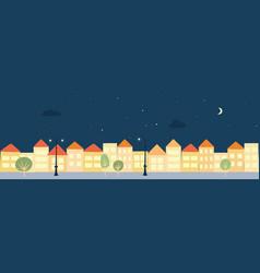 town landscape vector image