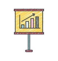 Training paper board isolated icon vector