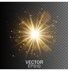Transparent glow light effect Star burst vector image vector image