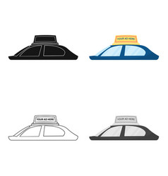 Transport advertising icon in cartoon style vector