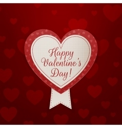 Valentines Day Banner with Text and Ribbon vector