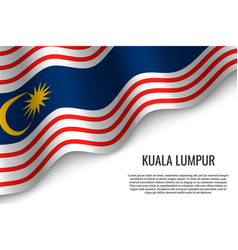 Waving flag of is a region of malaysiar vector