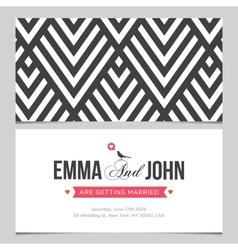wedding card pattern 01 vector image