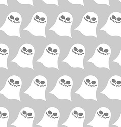White funny ghost seamless pattern backgrounds for vector image