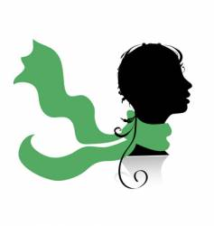 woman's head silhouette vector image