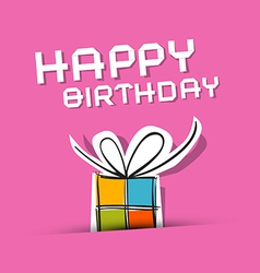 Happy birthday to you theme on pink background vector