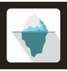 Iceberg icon in flat style vector image