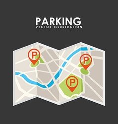 parking service design vector image vector image