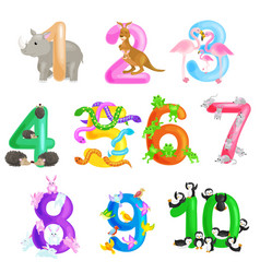 set of ordinal numbers for teaching children vector image