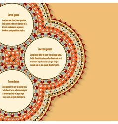 Abstract background with a Mexican design element vector image vector image
