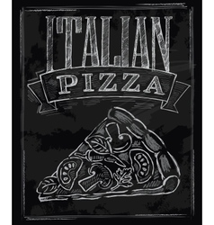 chalk pizza vector image