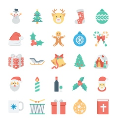 Christmas and Easter Colored Icons 1 vector image vector image