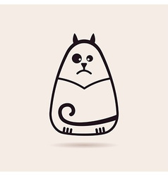symbol funny cat Stylized drawing silhouette vector image