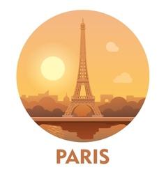 Travel destination Paris icon vector image vector image