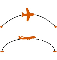 Airplane route vector image