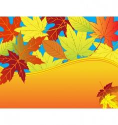 autumn leaf background vector image vector image