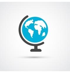 Color globe flat icon vector image vector image