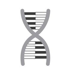 dna molecule chromosome biology genetic vector image