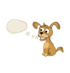dog hand drawn vector image vector image