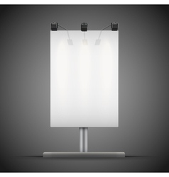 Empty mockup billboard with spotlights and vector image vector image