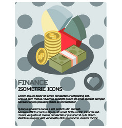 finance color isometric poster vector image vector image
