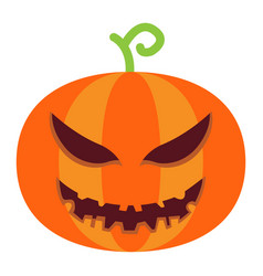 halloween pumpkin flat icon halloween and scary vector image