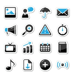 Internet website icons vector image vector image