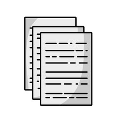 Line business documents to finance information of vector