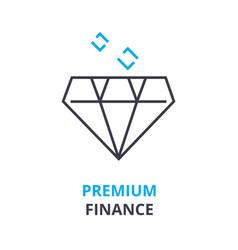 premium finance concept outline icon linear vector image