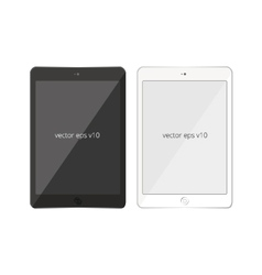 tablet pad white black mobile vector image vector image